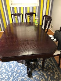 Dining table set with 6 chairs - $500 (NE, DC) LANHAM