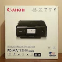 New Canon PIXMA TS8020 Wireless All-in-One Inkjet Printer Prattville, 36067