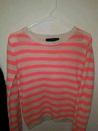 gray and pink striped crew-neck sweater Palatine, 60067