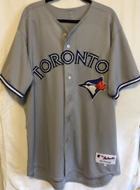 Men's Toronto Blue Jays Grey Jersey (Authentic/Majestic Jersey) Size Men's Large Burlington