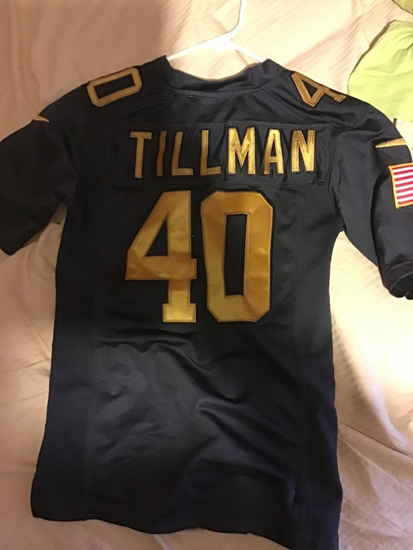 the latest c44d4 057a7 Black and yellow nfl jersey Pat Tillman salute to service Jersey