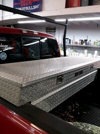 Truck tool box for sale ladder racks excellent shape it's all trucks