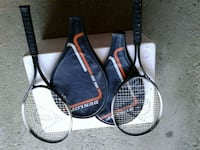 two black and white tennis rackets Markham, L3T 5G1