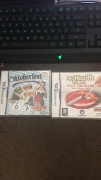 2  never used europian exclusive ds games