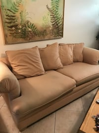 brown leather 3-seat sofa HOLLYWOOD