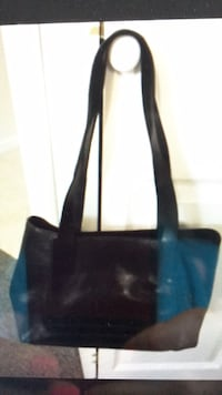 Bag navy blue, italian leather Bethesda, 20817
