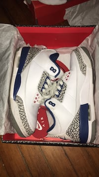 white-and-blue Air Jordan 3 shoes Schenectady, 12305