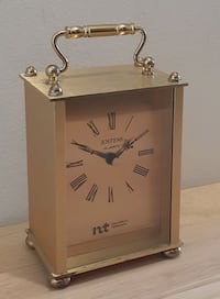 "Vintage Brass ""Jostens"" Carriage Clock"