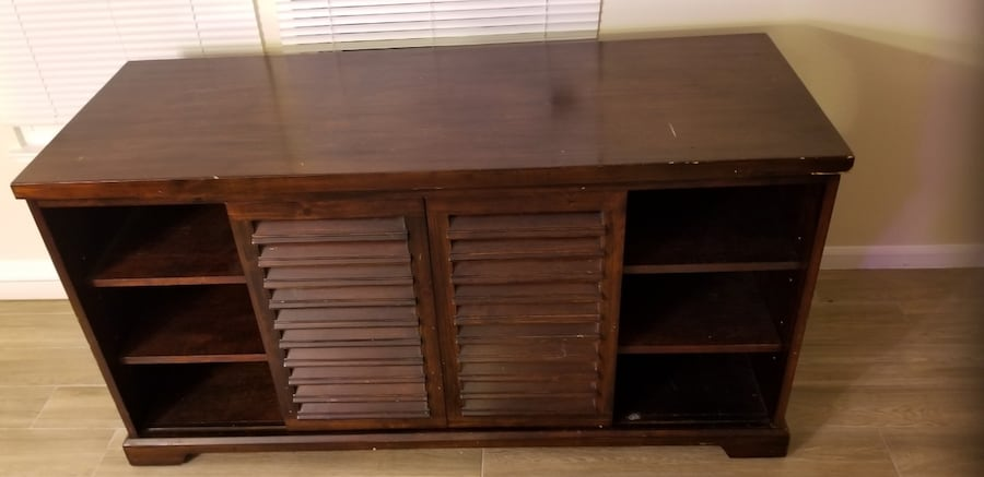 TV Stand with Organizational Shelves 2ea1ff41-963f-417d-925a-0204d4fee4eb