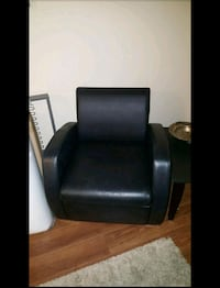 Black Leather Accent Chair Victoria, V9A 1L7