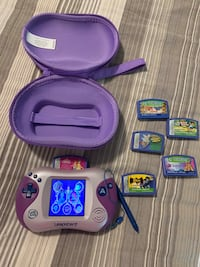 LEAPSTER 2 WITH 6 GAMES & CARRYING CASE
