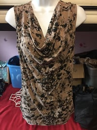 white and black floral sleeveless dress Winnipeg, R2L 0L7
