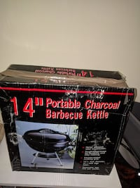 "14"" black portable charcoal barbecue kettle box Toronto, M5R 3J1"