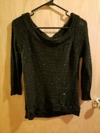 Black Sparkly Sweater.
