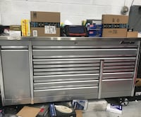 "Snap On Tools Tool Box 84"" EPIQ with PowerDrawer Liquid Silver Stainless Top Gaithersburg, 20877"