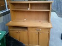 White Oak Hutch top is removable Woodinville, 98077