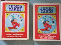 Vintage Mickey Mouse Jumbo Playing Cards from Disneyland's Magic Shop Winnipeg