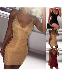 New gold dress with slits on side Burnaby, V5G