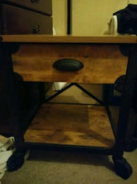brown wooden single-drawer end table 1202 mi