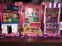 "3 - 18"" doll sets set up mall ideas shopping center hrs of fun huge collection  Rochester, 03867"