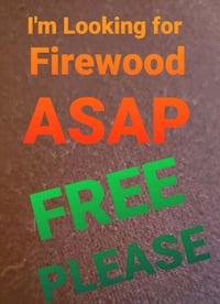 I am searching for free firewood!! Fort Atkinson, 53538