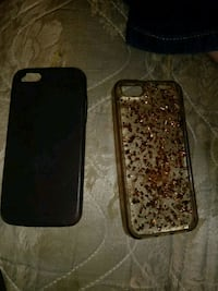 Iphone 5s cases one has a slight crack in it  446 mi