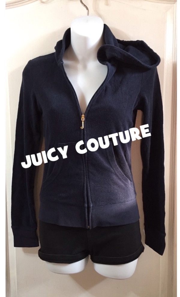 JUICY COUTURE Zip Up Hoodie Sweater: Size XS