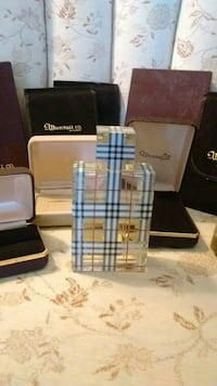 1/2 FULL BURBERRY PERFUME BOTTLE & JEWELRY BOXES. Oklahoma City, 73111