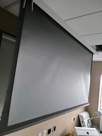 HD 10×6 projector screen motorized