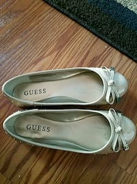 pair of white leather flats Leominster, 01453