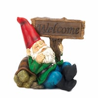 Welcome Gnome Solar Statue South Houston