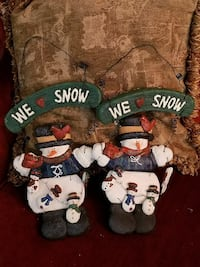 two Snowman hanging decors