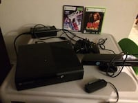 black Xbox 360 console with controller and game cases Edmonton, T5A 2S8