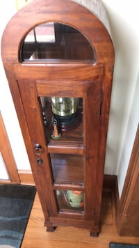 brown wooden framed glass cabinet Selma, 27576