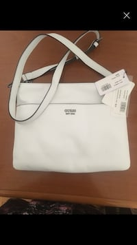tote bag in pelle bianca e marrone