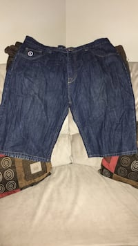 Blue denim shorts size 38