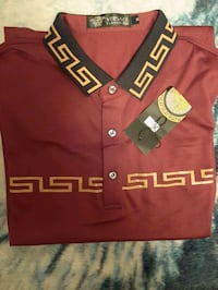 new with tags men's Gianni Versace polo shirt size medium