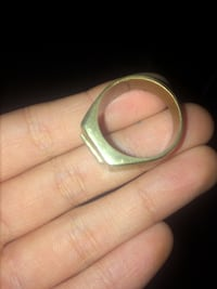 Real gold 18k stamped ring, size 14 maybe a little smaller Winnipeg, R3G 1W5