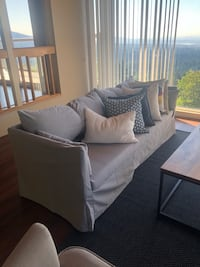 Gray fabric sofa - purchased in Jan 2018 West Vancouver, V7S 2C7