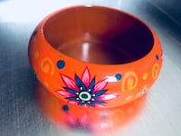 BRAND NEW Colourful Floral Wooden Bangle • $6 FIRM! Winnipeg