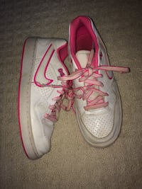 Pink and white Air Force ones size 6 Chestermere, T1X 0C5