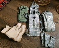 Miscellaneous Army equipment / boots / ranks / bag 41 km