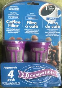 "4 pack Reusable ""K""apsule Single Serve Coffee Filter Cups Mississauga, L5B"
