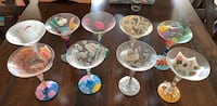 Lolita hand painted beverage glasses im assorted  one time release themes and patterns 46 km