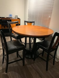 6-Piece Set: Table, Chairs, & Wine Rack