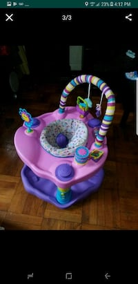 baby's purple and pink activity saucer Brooklyn, 11210