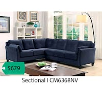 black sectional sofa with ottoman Lakewood, 90712