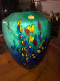 Green and blue ceramic vase Turlock, 95380