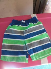 multicolored striped short