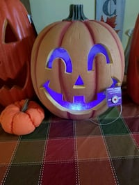 Light up pumpkin with a spooky laugh  Columbus